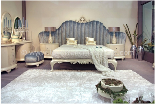 Venezia Bedroom Collection in Blue and Cream
